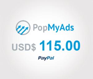 PopMyAds Comprobante PayPal
